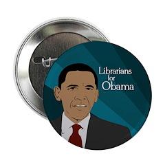 Librarians for Barack Obama button