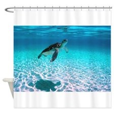 Cute Turtle Shower Curtain