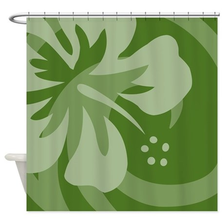 black dark green shower curtain. hibiscus dark green shower curtain black n