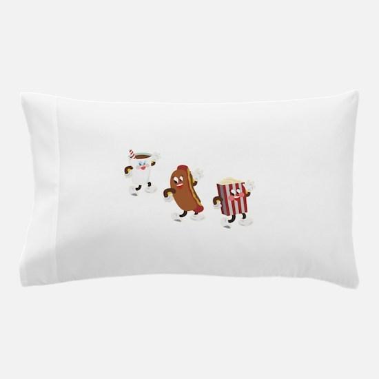Soda Hotdog Popcorn Pillow Case