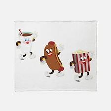 Soda Hotdog Popcorn Throw Blanket