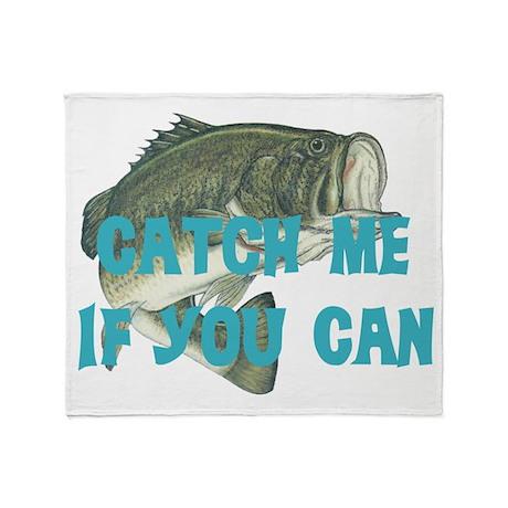 Catch me bass Throw Blanket