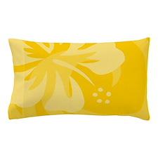 Hibiscus Yellow Pillow Case