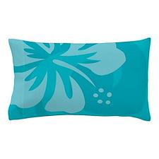 Hibiscus Light Blue Pillow Case