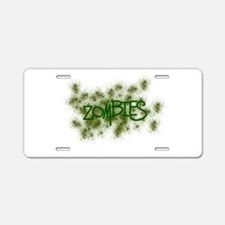 Zombies with Splatter! Aluminum License Plate
