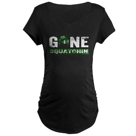 Gone Squatchin (Green) Maternity Dark T-Shirt