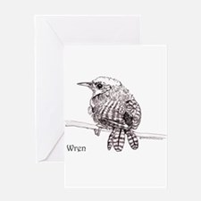 Little Brown Wren Greeting Cards