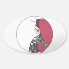 Geisha Sticker (Oval)
