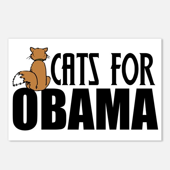 Cats for Obama Postcards (Package of 8)