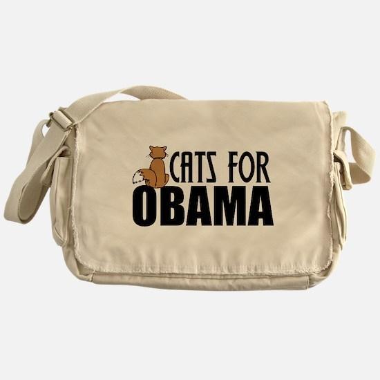 Cats for Obama Messenger Bag