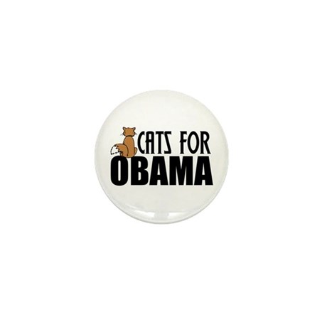 Cats for Obama Mini Button (10 pack)