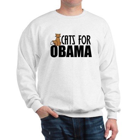 Cats for Obama Sweatshirt