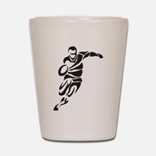 Rugby Player Shot Glass