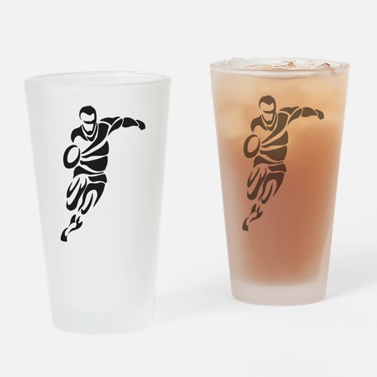 Rugby Player Drinking Glass
