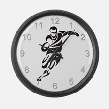 Rugby Player Large Wall Clock