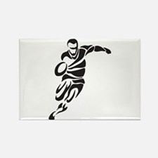 Rugby Player Rectangle Magnet