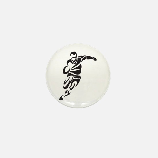 Rugby Player Mini Button