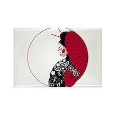 Geisha Rectangle Magnet