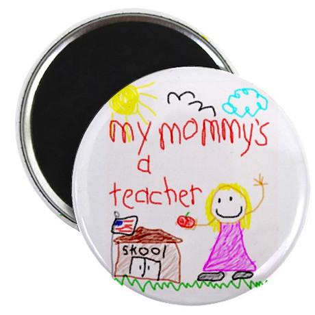"""""""Mommy Teacher"""" Series 2.25"""" Magnet (100 pack)"""