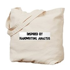 Inspired by Handwriting Analy Tote Bag