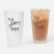 Real Zombies Eat Brains! Page Drinking Glass