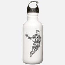 Lacrosse LAX Player Sports Water Bottle