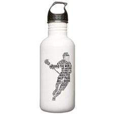 Lacrosse LAX Player Water Bottle