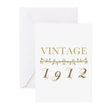 1912 Vintage Gold Greeting Cards (Pk of 10)