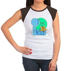 OYOOS i'm a kid design Women's Cap Sleeve T-Shirt