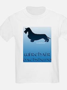 Wirehair Sky Blue Kids T-Shirt