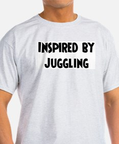 Inspired by Juggling Ash Grey T-Shirt