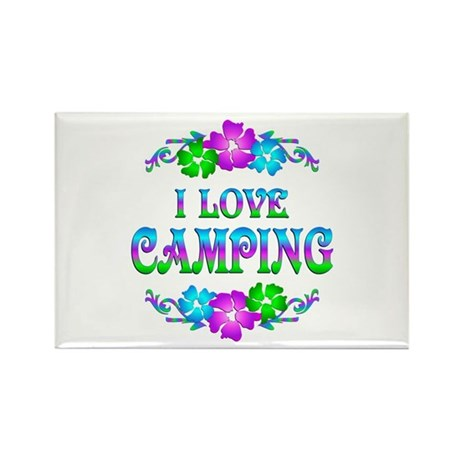Camping Love Rectangle Magnet (100 pack)