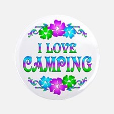 "Camping Love 3.5"" Button"