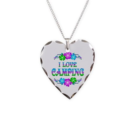 Camping Love Necklace Heart Charm