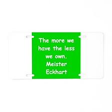 meister eckhart Aluminum License Plate