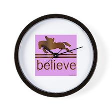 Believe (horses) Wall Clock