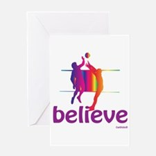 Believe (volleyball) Greeting Card