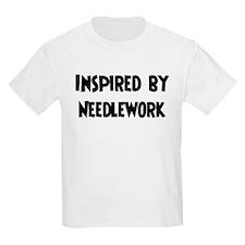 Inspired by Needlework Kids T-Shirt