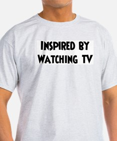 Inspired by Watching TV Ash Grey T-Shirt