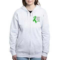 Hope Cure Green Ribbon Zip Hoodie
