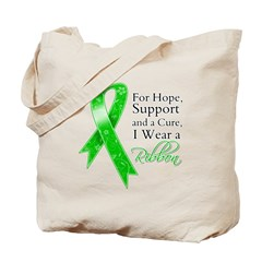 Hope Cure Green Ribbon Tote Bag