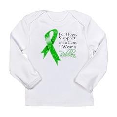 Hope Cure Green Ribbon Long Sleeve Infant T-Shirt