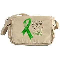 Hope Cure Green Ribbon Messenger Bag