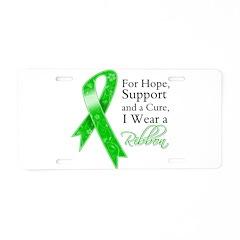 Hope Cure Green Ribbon Aluminum License Plate