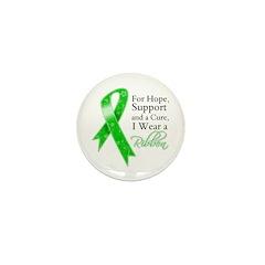 Hope Cure Green Ribbon Mini Button (100 pack)