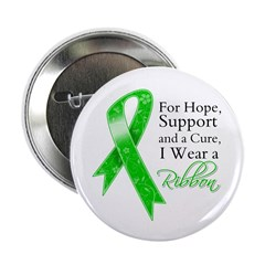 Hope Cure Green Ribbon 2.25