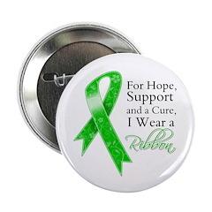 Hope Cure Green Ribbon 2.25