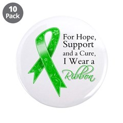 Hope Cure Green Ribbon 3.5