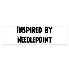 Inspired by Needlepoint Bumper Bumper Sticker