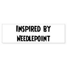 Inspired by Needlepoint Bumper Bumper Sticker